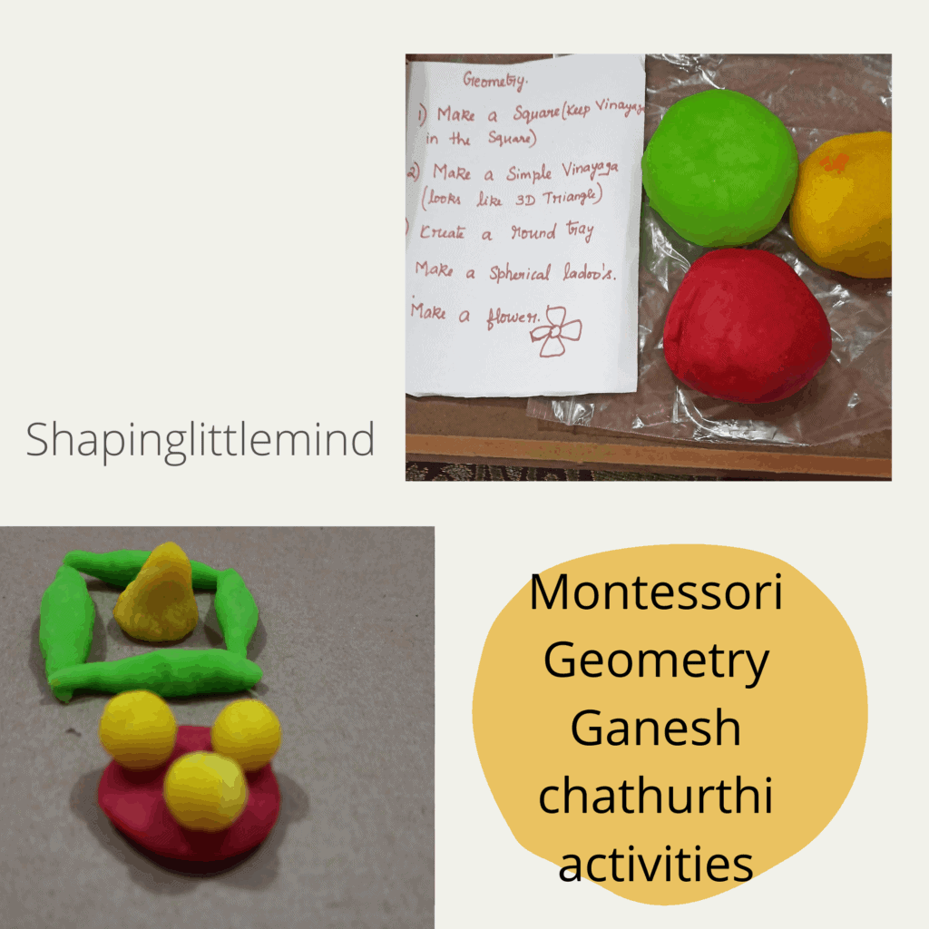 Montessori geometry Ganesh chathurthi