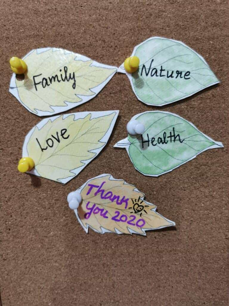 Thank you leaf to cultivate gratitude to kids
