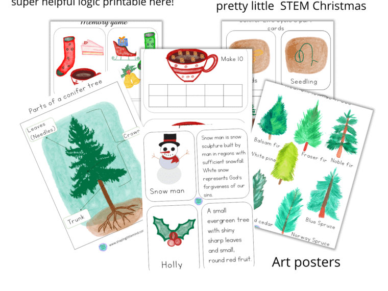 Free Christmas worksheets bundle